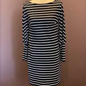 Vince Camuto blue and white stripped dress